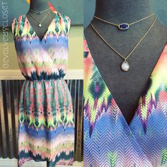 Good morning, Evolve Fashionistas! With Fall right around the corner we are LOVING this dress as a transitional piece. The dark and light colors are great for summer, but can definitely stay in rotation during Fall! Call 2105495001 to reserve your size, or comment below! #evolveboutique #evolvemycloset #ootd #kendrascott #fall
