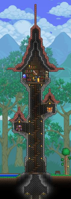 Best Minecraft Wallpaper Terraria House Design Terraria House Ideas Minecraft Wallpaper Building Furniture