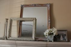 Mirror and frames thrifted by @ColorBlind Blog from Color Blind Thrifters Anonymous Anonymous, Thrifting, Oversized Mirror, Blinds, Frames, Diy Projects, Blog, Home Decor, Style