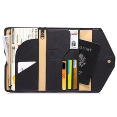 Women PU Leather Passport Bag Daily Use Purse Card Holder