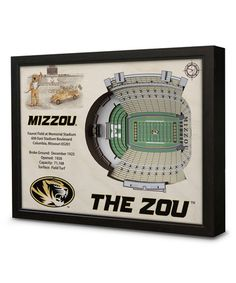 Look at this #zulilyfind! Missouri Tigers Faurot Field at Memorial Stadium Wall Art #zulilyfinds
