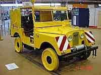 This MINERVA Land Rover was utilised by the Brussels tramway company, you can see that the wheels are tramway wheels to drive on the rails.