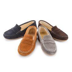 Mocassins en suède pour garçons - Chaussures Enfant au Meilleur Prix et de Grande Qualité Pisamonas