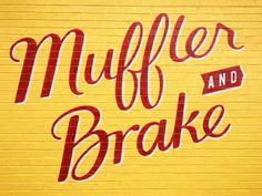 muffler and brake lettering