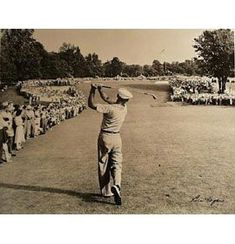 One of the greatest golf photos in history. Ben Hogan hits a laser one iron on the green in the 1950 US Open at Merion Golf Club. Ben goes on to win the open and his win is called the Miracle at Merion. #ChoosingTheRightGolfEquipment