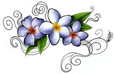 Lilac Flower Tattoo | Plumeria Siam Lilac and Jack Purple tattoo by *styx-leagon on ...