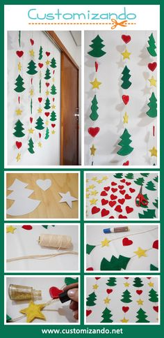 In this DIY tutorial, we will show you how to make Christmas decorations for your home. Christmas Window Display, Large Christmas Baubles, Christmas Party Decorations, Christmas Ornaments To Make, Xmas Crafts, Christmas Art, Diy Crafts, Classroom Window Decorations, Decoracion Navidad Diy