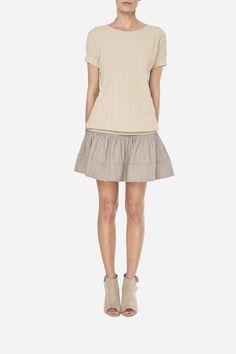 41 Woolen jumper - 420zł (105€), Skirt 550zł (135€)