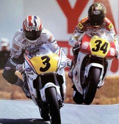 Doohan and Schwantz Laguna Seca 91 Bike Illustration, Racing Motorcycles, Sport Bikes, Grand Prix, Motorbikes, Football Helmets, Motorcycle Jacket, Honda, Sports
