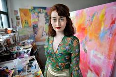 Local artists paint bright picture for online girls' mag