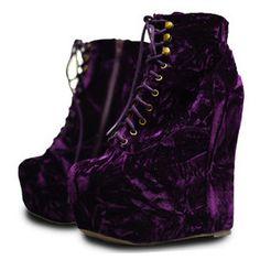 jeffrey campbell purple velvet damsel