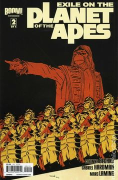 Exile on the Planet of the Apes (2012 Boom) 2B Comic book covers movie