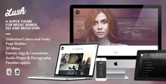 Buy Lush - Music Band & Musician WordPress Theme by IronTemplates on ThemeForest. Lush is a complete solution for everybody in the music industry. If you are a jazz master, punk rocker, soprano sing. Professional Wordpress Themes, Best Wordpress Themes, Michael Thompson, Theme Template, Piano Player, Mp3 Player, Singles Events, Best Templates, Website Themes