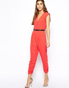River Island | River Island Belted Wrap Jumpsuit at ASOS