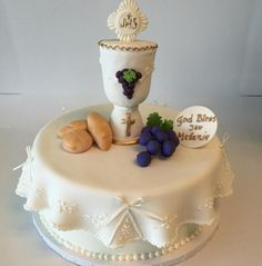 First communion themed cake!