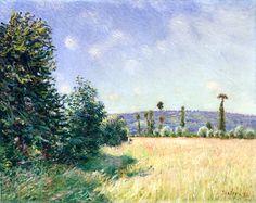 Alfred Sisley - Sahurs Meadows in Morning Sun 1894