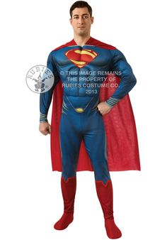 Deluxe Man of Steel Muscle Chest Superman Costume - Superhero Costumes at Escapade