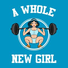 "Awesome ""A Whole New Girl"" #Fitness #Princess #Jasmine #Gym #Crossfit design on TeePublic!"