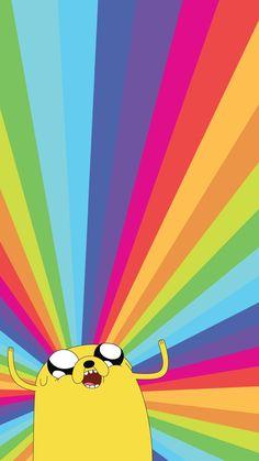 Jake the Dog Adventure Time Rainbow iPhone HD Wallpaper Cartoon Wallpaper, Dog Wallpaper, Animal Wallpaper, Mobile Wallpaper, Wallpaper Backgrounds, Iphone Backgrounds, Rainbow Wallpaper, Galaxy Wallpaper, Disney Wallpaper