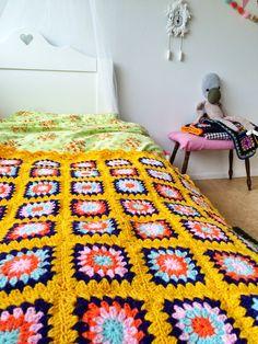 🎨  Para Afegãos Crochê  Quadrados itens decorativos Malha Criações -  /  🎨 Crocheting Afghans Square For Knit Knacks Creations -
