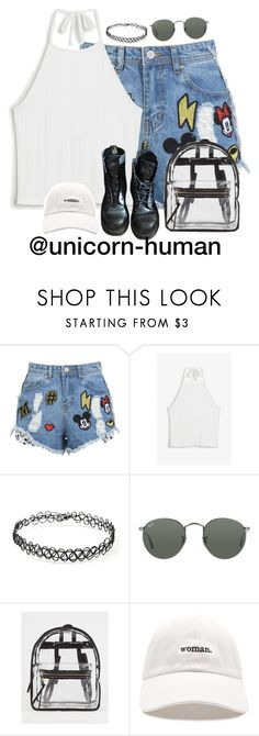 """Untitled #2899"" by unicorn-human on Polyvore featuring Monki, Forever 21, Dr. Martens, Ray-Ban and Absolutely"