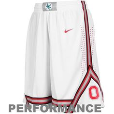 Whether you're hitting the gym running the track or using your b-ball skills to school your buddies on the court (once again) these lightweight performance shorts from Nike will provide you with ample flexibility comfort and agility while letting you show off your Buckeyes spirit. Designed with the same style your favorite Ohio State players wear on court these authentic shorts feature perforated side panels with tackle twill team graphics and Nike's moisture-wicking Dri-FIT technology for…