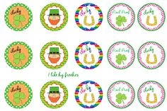 FREE!: St. Patrick's Day printable (Bottlecap images)/Cupcake Toppers