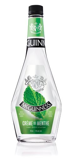 Clear and colourless, McGuinness Crème de Menthe White is a favourite ingredient in many dessert-style cocktails! Cocktail Recipes, Cocktails, Liqueurs, Creme, Make It Yourself, Bottle, Desserts, How To Make, Products