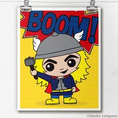 Thor Limited Edition Print by StudioLongoria on Etsy, $10.00