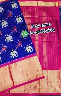 South Indian Wedding Saree, Saree Wedding, Saree Models, Pochampally Sarees, Ikkat Silk Sarees, Pure Products, Stitch, Full Stop, Sew