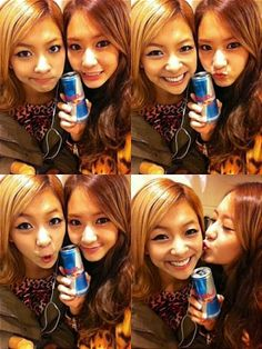 f(x) members Krystal and Luna share a set of refreshing selcas