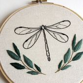 Finished this little Dragonfly piece for a friend, really pleased with how it has turned out! Finished this little Dragonfly piece for a friend, really pleased with how it has turned out! Simple Embroidery, Hand Embroidery Patterns, Vintage Embroidery, Cross Stitch Embroidery, Embroidery Sampler, Creative Embroidery, Japanese Embroidery, Art Patterns, Flower Embroidery