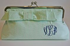 Seersucker + monograms = perfect for a bridesmaids gift for a Southern wedding! Adorable.
