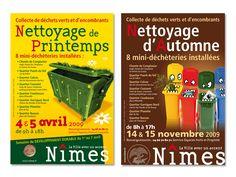 Mairie de Nîmes - Identité Visuelle, édition, affichage.   Agence conseil en communication Binome Nîmes Montpellier.