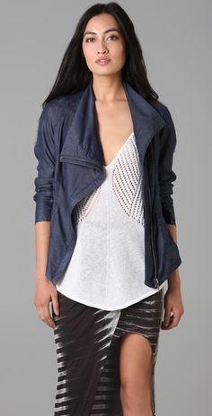 Helmut Lang Denim Silky Wash Jacket #jacket #fashion #HelmutLang