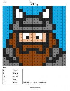 Coloring by Numbers Worksheet Viking Free Color by number Page