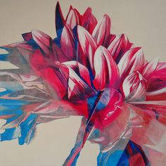 Acrylic Painting  FLUFFY FLOWER II Original Painting on by kacix
