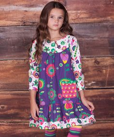 Take a look at this Purple Telluride Renee Dress & Leggings - Infant, Toddler & Girls by Jelly the Pug on #zulily today!