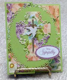 Floral cross sympathy card