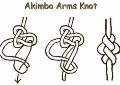"can't remember where I got this but looks cool and share it anyways ""akimbo arms knot"" 😅🙏✊ #paracord #pinoyparacordist #paracordtutorials…"