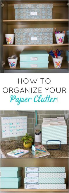 Love these simple tips for organizing your paper clutter! #clutterclearingtips