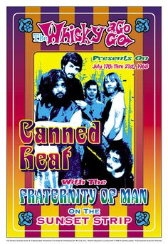 Canned Heat 1968 Poster Print by Dennis Loren x Vintage Music, Vintage Movies, Kinds Of Music, Music Is Life, Vintage Concert Posters, Music Posters, Art Posters, Whiskey A Go Go, Nostalgia 70s