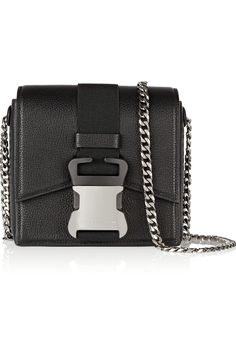 Not something I would normally go for, but this looks really cool.   Christopher Kane|Safety Buckle textured-leather shoulder bag