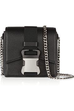 Christopher Kane   Safety Buckle textured-leather shoulder bag