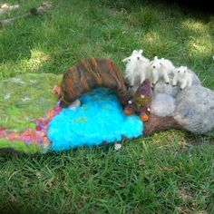 3 Billy Goats Gruff playscape by Nushkie on etsy - $195