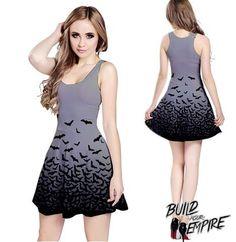 Fade to Bats Dress - Build Your Empire Clothing Co | Nu goth & Alternative Apparel - 6