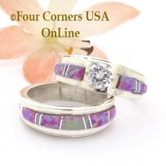 Best Pics Size 5 Pink Fire Opal Engagement Bridal Wedding Ring Set Native American Wilbert Muskett Jr Special Buy Final Concepts Are you currently searching for inexpensive wedding bands? At EFES you can find wedding bands from N Camo Wedding Rings, Cheap Wedding Rings, Engagement Wedding Ring Sets, Wedding Sets, Wedding Ring Bands, Diamond Cluster Engagement Ring, Solitaire Engagement, Alternative Wedding Rings, Bridal