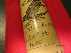 "1862. Gary Howells  3,800.00 7' 6"", # 5 line, 3 1/8 oz., 2-piece, 2 tips"