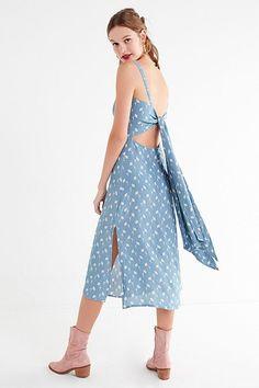 Faithfull The Brand Katergo Tie-Back Midi Dress