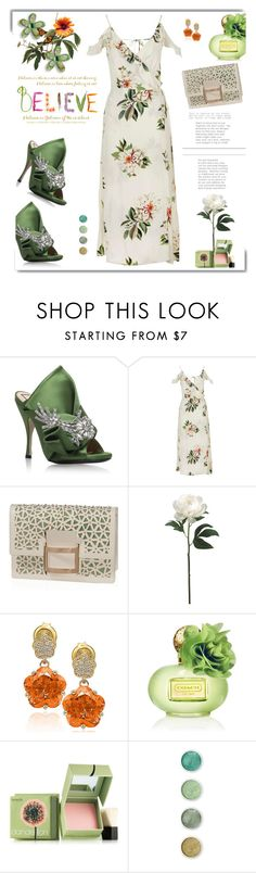 """""""Believe"""" by hamaly ❤ liked on Polyvore featuring White Label, N°21, Topshop, Roger Vivier, Suzy Levian, Coach, Benefit, Terre Mère, ootd and dresses"""